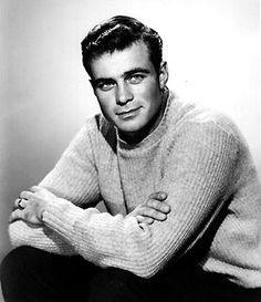 Glenn Corbett, actor(Route he was a friend of my father and came to visit. I was too young to care. So handsome! Hollywood Actor, Hollywood Celebrities, Classic Hollywood, Hollywood Icons, Male Celebrities, Popular People, Famous People, Free People, Glenn Corbett