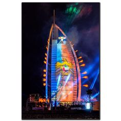 12/14 The Burj Al Arab lights for UAE 43rd National Day  PHOTO:  s_yaber
