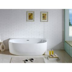 Pacific Collection Monte 5833-CR 58 in. Freestanding Oval Soaking Bathtub - PBT-MONTE-5833-CR