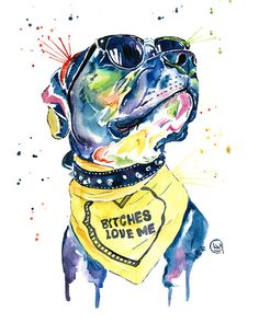 Pitbull, Pit Bull Watercolor Pet Portrait Pinting - Diesel Couch Throw Pillow by Whitehouse Art - Cover x with pillow insert - Indoor Pillow Dog Paintings, Original Paintings, Original Art, Smiling Pitbull, Pop Art, Pet Remembrance, Pet Memorial Gifts, Animal Art Prints, Pet Portraits