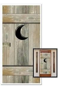 Outhouse Door Cover Western Saloon Decor Wild West Hillbilly Redneck Bathroom