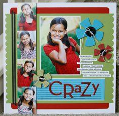 Scrapbook page layout by Nichol