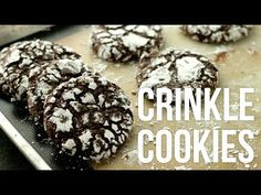 Learn how to make crunchy on the outside, fudgy on the inside, chocolaty crinkle cookies! This recipe is so easy, takes almost no time to make and the cooki. Chocolate Crinkle Cookies, Chocolate Crinkles, Candy Recipes, Cookie Recipes, Crinkles Recipe, Crackle Cookies, Bakers Kitchen, Unsweetened Cocoa, Cookie Bars