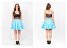 PARADOX SS15 'Details' Collection Black bralet w/ lace - 12.000HUF Powderblue skirt - 23.000HUF