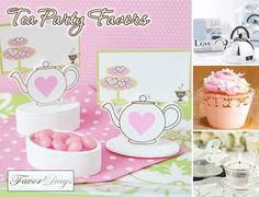 Teapot Place Card Boxes with Designer Place Cards, tea party favors, tea party ideas, tea party favor ideas, tea party decorations Tea Party Bridal Shower, Bridal Shower Favors, Wedding Favors, Wedding Ideas, Shower Party, Wedding Themes, Shower Gifts, Wedding Blog, Wedding Reception