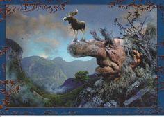 Troll by Ivar Rodningen Baumgarten, Shetland, Kobold, Book Images, Fairy Art, Children's Book Illustration, Illustrations, Conte, Fantasy Creatures