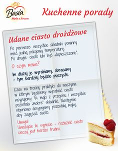 Udane ciasto drożdżowe Cooking Tips, Cooking Recipes, Healthy Recipes, Kitchen Hacks, Food Hacks, Nutella, Spices, Easy Meals, Food And Drink