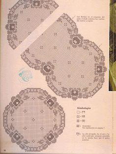 "Photo from album ""ааа Рукоделие"" on Yandex. Crochet Edging Patterns, Filet Crochet Charts, Crochet Doily Patterns, Crochet Blocks, Crochet Designs, Crochet Doilies, Crochet Stitches, Pixel Crochet, Crochet Art"