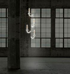 Contemporary wall light / hexagonal / Limoges porcelain / LED - WERSAILLES - Beau&Bien