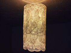 ..Twigg studios: doily lamp shade