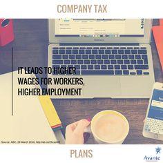 Tax talk: Company tax plans in Australia! #3  #company #taxes #wages #employment #avante  www.avantefinancial.com.au