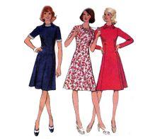 70s Boho Dress Pattern Princess Seams by allthepreciousthings, $14.00