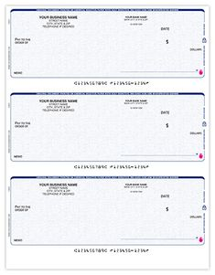 3 Per Page QuickBooks & Quicken Checks