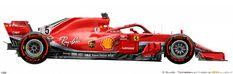 Automobile, Formula 1 Car, Ferrari F1, Car Drawings, Sport, Race Cars, Racing, Vehicles, Auto Vintage