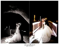 Christ Episcopal Church Wedding photos; Sawgrass Marriott Resort, Island Green Pavilion; jacksonville wedding photography; tonya beaver photography; backlit night shots; bride and groom night photos