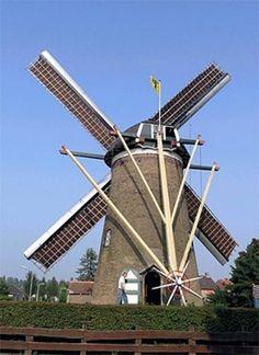 Flour mill (stenen grondzeiler), Oosterland, the Netherlands