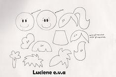 Luciene e.v.a: Molde ponteiras planas