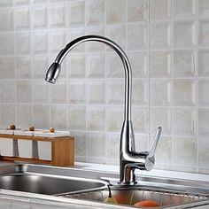 Moderni Tall Korkea Arc Pöytäasennus TouchTouchless with Keraaminen venttiili Yksi kahva yksi reikä for Harjattu keittiöhanat