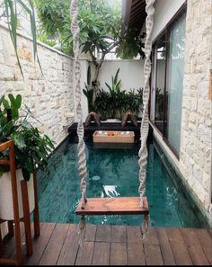 Small Backyard Pools, Backyard Pool Designs, Small Pools, Swimming Pool Designs, Pool Decks, Pool Landscaping, Small Indoor Pool, Small Patio Ideas On A Budget, Budget Patio