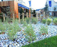 Landscape design, Ingress Park sales & marketing suite