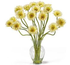 Nearly Natural Gerber Daisy Liquid Illusion Silk Flower Arrangement * Find out more about the great product at the image link.