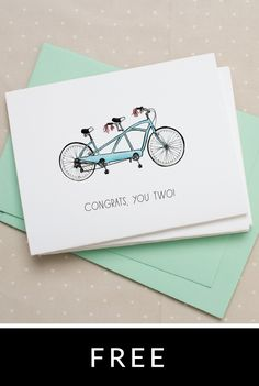 Bicycle Notecard