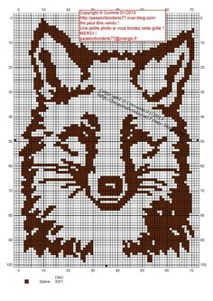 animaux - animals - renard - point de croix - cross stitch - Blog : http://broderiemimie44.canalblog.com/