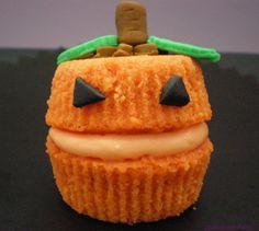 Cupcake Halloween de calabaza