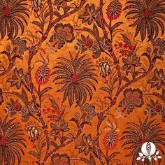 Marrakech in Persimmon | @Suzanne Tucker Home #fabric #silk #orange