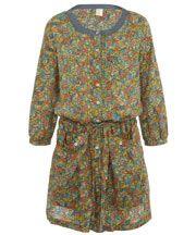 Floral Carlin Print Mandarin Dress - que bom que vc chegou!