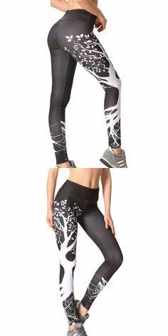 59483adfdd2 White black print workout leggings women plus size halloween christmas  leggins mujer elastic high waist leggings