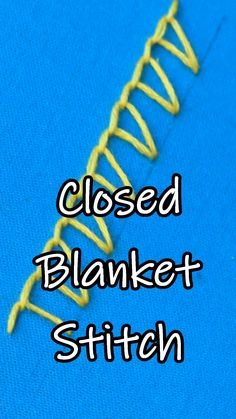 Learn how to work a closed blanket stitch in embroid. Learn how to work a closed blanket stitch in embroiderystitches lernen anfänger vide. Sewing Stitches By Hand, Hand Embroidery Videos, Embroidery Stitches Tutorial, Flower Embroidery Designs, Hand Embroidery Patterns, Ribbon Embroidery, Cross Stitch Embroidery, Embroidery Art, Knitting Stitches