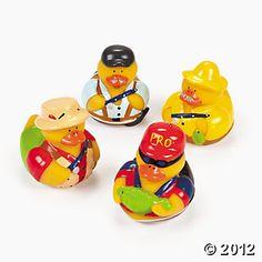 Fisherman rubber ducks. Sweet!