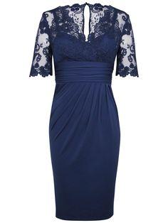 Buy Alexon Lace Top Dress, Blue online at JohnLewis.com - John Lewis