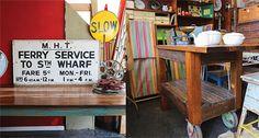 Recycled, industrial and vintage homewares