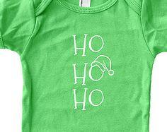 Christmas Baby Shirt - Santa Baby Bodysuit - Baby Shirt - Girl Shirt / Boy Shirt - 3-6 month, 6-12 month, 12-18 month, 18-24 month - Gift
