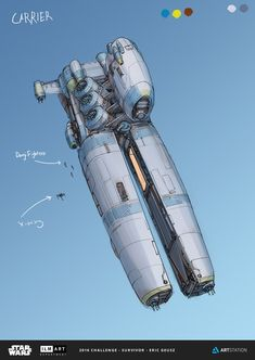 Spaceship Designs by Digital Artist Eric Geusz