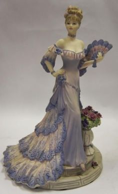 Coalport Lady Figurine Les Parisiennes Madamoiselle Claudette Made in England | eBay