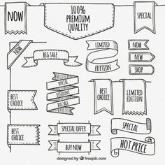 Banner doodle examples for bujo Banners, Doodle Lettering, Lettering Ideas, Sketch Notes, School Notes, Bullet Journal Inspiration, How To Draw Hands, Drawings, Crafts