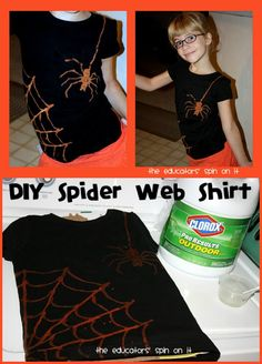 As soon as I set my eyes on this DIY project, I knew I needed to this Spider Web Shirt for my daughter. She is fascinated by spiders and the webs that they make.