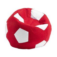 #Puff de fieltro en forma de #balón.