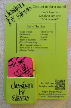 Green Business card Display