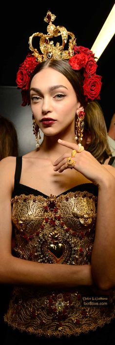 Dolce and Gabbana Gold Bustier Corset Fantasy Fashion #UNIQUE_WOMENS_FASHION