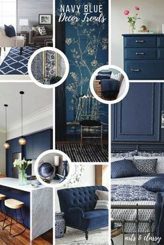 Navy Blue Interior Decor Trends + Inspiration