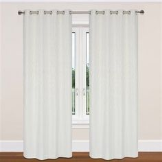 LJ Home Fashions Delta Grommet Curtain Panels (Set of 2)