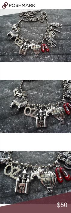 Whimsical Wizard of Oz Silver Charm Necklace There's no place like home, and there is no place quite as magical as Oz. So click your heels, and hit the offer button before this beautiful handcrafted silver tone charm necklace vanishes like a flying monkey. Limited quantities handmade from Local California artisan. Make an offer or ask me to create a custom bundle! Foxarazzi Jewelry Necklaces