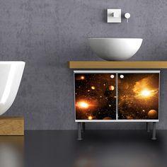 NEU! Badunterschrank Motiv Outer Space von banjado via dawanda.com