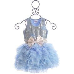 Ooh La La Couture Party Dress in Blue (455 BRL) ❤ liked on Polyvore featuring kids