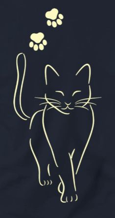 cat drawing simple step by step ; cat drawing simple for kids ; Cat Tattoo Designs, Cat Quilt, Cat Crafts, Animal Drawings, Drawings Of Cats, Easy Drawings, Cat Art, Rock Art, Line Art