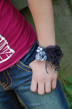 Denim Cuff Bracelet. $16.00, via Etsy.